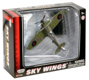 Richmond Toys Motormax Sky Wings Classic Spitfire Aircraft Die-Cast Model Approx 1:100 Scale with Authentic Details