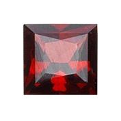 0.73 Cts of 5x5 mm AAA Princess Garnet (1 pc) Loose Gemstone
