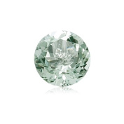 1.10-1.29 Cts of 7 mm AA Round Green Amethyst ( 1 pc ) Loose Gemstone