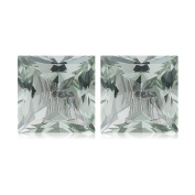 2.92-3.20 Cts of 7 mm AA Square Princess Green Amethyst Matched Pair ( 2 pcs ) Loose Gemstones