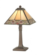 Dale Tiffany TA70678 Slayter Accent Lamp, Antique Brass and Art Glass Shade