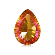 11.95 Cts of 18x13 mm AA Pear Concave Mystic Azotic Ecstacy Topaz ( 1 pc ) Loose Gemstone
