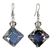 Lova Jewellery Royal Purple Hand-Blown Venetian Murano Glass Drop Earrings