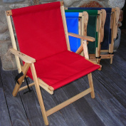 Extra Large Folding Deck Chair in Navy