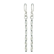 Sterling Silver 30mm Twisted Stick with Fish hook Earrings