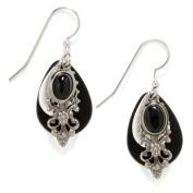 Silver Forest Filigree Teardrop Dangle Earrings