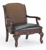 Comfort Pointe 3177 Liza Elegant Carved Occasional Accent Chair,