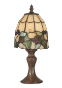 Dale Tiffany TA70709 Tiffany Grape Accent Lamp, Antique Brass and Art Glass Shade