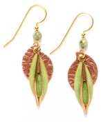 Silver Forest Layered & Copper Drop Earrings
