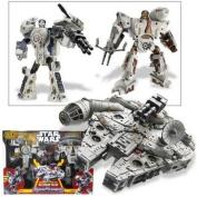 Star Wars Transformers Millennium Falcon With Han Solo & Chewbacca