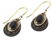 Silver Forest Onyx Stone Drop Earrings