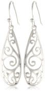 Sterling Silver Long Teardrop Drop Earrings