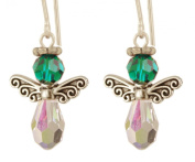 Small. Crystal Birthstone Angels - Sterling Silver - May