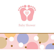 Tiny Toes Girl Baby Shower Beverage Napkins