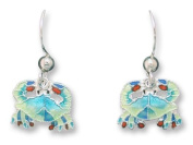 Little Crab Sterling Silver & Enamel Earrings