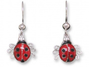 Ladybird Sterling Silver and Enamel Earrings