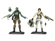 G.I. JOE Hasbro Action Figures Comic Book- 2-Pack Beachhead and Dataframe