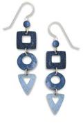Adajio by Sienna Sky Denim Blue Geometric Shapes Cascade Earrings 7298