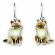 Birman Sterling Silver and Enamel Earrings
