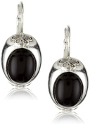 Antiquities Couture Silver-Tone and Onyx Hues Cabochon Earrings