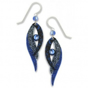Adajio By Sienna Sky Navy Blue Folded Wings Drop Earrings 7377