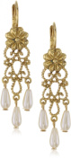 Antiquities Couture Antique Filigree Pearl Drop Earrings