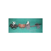 Classic Toy Soldiers Civil War 4 horse limber and cannon 1/32 scale with two confederate figures