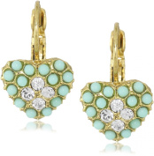 Antiquities Couture Turquoise Heart Drop Earrings