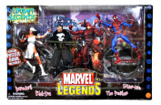 ToyBiz Year 2003 Marvel Legend Series 4 Pack 15cm Tall Action Figure Set - URBAN LEGENDS with DAREDEVIL, ELEKTRA, THE PUNISHER and SPIDER-MAN Figures Plus 4 Display Stands and Special Poster Book