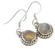 925 Sterling Silver NATURAL LABRADORITE Earrings, 2.9cm , 4.98g