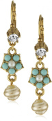 Antiquities Couture Vintage-Inspired Couture Faux Pearl and Crystal Drop Earrings