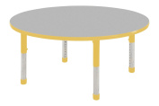 Early Childhood Resource ELR-14114-GGN-C 91.4cm . Grey Round Adjustable Activity Table with Green Chunky Leg