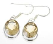 925 Sterling Silver NATURAL CITRINE Earrings, 3.2cm , 6g