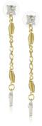 Antiquities Couture Art Deco Spiral Drop Earrings