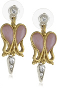 Antiquities Couture Art Deco Crystal Heart Earrings