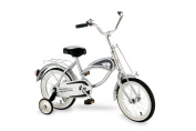 Morgan Cycle 36cm Cruiser Bicycle with Training Wheels, Silver