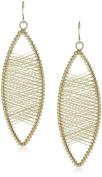 Kenneth Jay Lane Gold Oval Wire Earrings