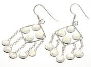 925 Sterling Silver RAINBOW MOONSTONE Earrings, 5.4cm , 6.45g