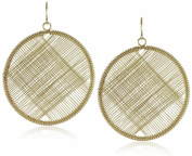Kenneth Jay Lane Gold Circle Wire Earrings