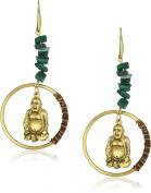 """T.R.U. Jewellery Hoop Dangle """"Sitting Buddha"""" Earrings"""