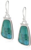 """Barse Sterling Silver """"Basic"""" Turquoise Oblong Rectangular Earrings"""