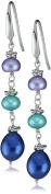 "Honora ""Peacock"" Freshwater Cultured Pearl Dangle Earrings"