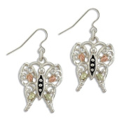 Landstroms Black Hills Gold and Silver & Gold Butterfly Earrings - ER3000SS