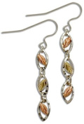 Landstroms Black Hills Gold and Silver Swinging Tiered Earrings - ER337SS