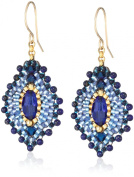 Miguel Ases Small Lapis Lotus Earrings