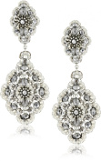 Miguel Ases Pyrite Bead and Sterling Silver Medium Drop Earrings