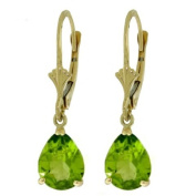 14k Solid Gold Dangle Earrings with Peridots