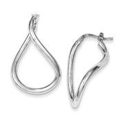 Sterling Silver Polished Twisted Hoop Earrings