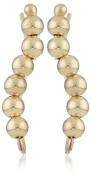 The Ear Pin 10k Yellow Gold Polished Beads Earrings