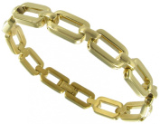 Rochet Roma Solid Stainless Steel Gold Tone Oval Link Mens Bracelet